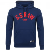 Product Image for G Star Raw Logo Core Hoodie Blue