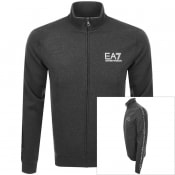 Product Image for EA7 Emporio Armani Full Zip Logo Sweatshirt Grey