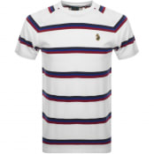 Product Image for Luke 1977 Rey Pique Stripe Crew Neck T Shirt White