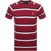 Product Image for Luke 1977 Rey Pique Stripe Crew Neck T Shirt Red