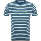 Product Image for Pretty Green Gordon Feeder Stripe T Shirt Blue