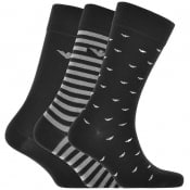 Product Image for Emporio Armani Lounge 3 Pack Sock Gift Set Black