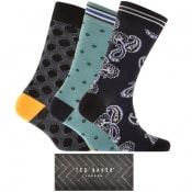 Product Image for Ted Baker Bunche 3 Pack Socks Gift Set Navy