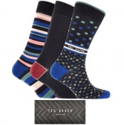 Product Image for Ted Baker Granada 3 Pack Socks Gift Set Navy