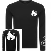 Product Image for Money Panel Long Sleeved Crew NeckT Shirt Black