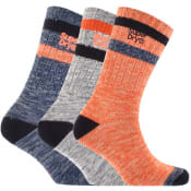 Product Image for Superdry Mountaineer Triple Pack Socks Blue