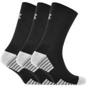 Product Image for Under Armour Three Pack Heatgear Socks Black