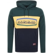 Product Image for Napapijri Bogy Colour Block Hoodie Green