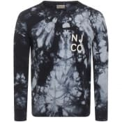 Product Image for Nudie Jeans Melvin Tie Dye Sweatshirt Grey