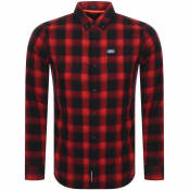 Product Image for Superdry Long Sleeved Check Shirt Red