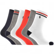 Product Image for Ralph Lauren Polo Sport 6 Pack Socks White