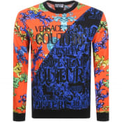 Product Image for Versace Jeans Couture Logo Sweatshirt Orange