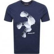 Product Image for Michael Kors Aviator Logo T Shirt Navy