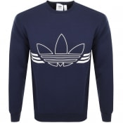 Product Image for adidas Originals Outline Logo Sweatshirt Navy