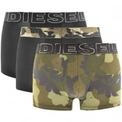 Product Image for Diesel Underwear Damien 3 Pack Boxer Shorts Green