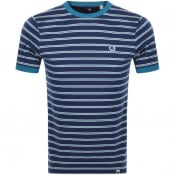 Product Image for Pretty Green Martell Crew Neck Stripe T Shirt Navy