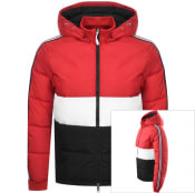 Product Image for Armani Exchange Hooded Logo Jacket Red