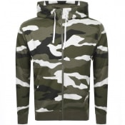 Product Image for Nike Camo Full Zip Hoodie Green