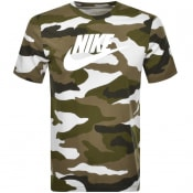 Product Image for Nike Camouflage T Shirt Green