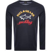 Product Image for Paul And Shark Long Sleeve Logo T Shirt Black