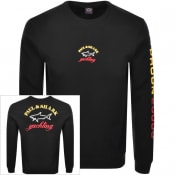 Product Image for Paul And Shark Crew Neck Logo Sweatshirt Black