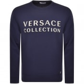 Product Image for Versace Collection Crew Neck Sweatshirt Blue