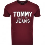 Product Image for Tommy Jeans  Essential 1985 Logo T Shirt Burgundy