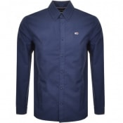Product Image for Tommy Jeans Long Sleeved Twill Tape Shirt Navy