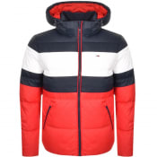Product Image for Tommy Jeans Rugby Stripe Puffer Jacket Navy