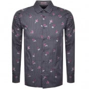 Product Image for Ted Baker Long Sleeved Richrd Shirt Navy