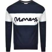 Product Image for Money College Stripe Logo Sweatshirt Navy