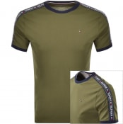 Product Image for Tommy Hilfiger Lounge Round Neck T Shirt Green