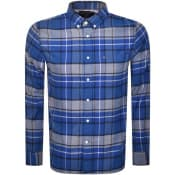 Product Image for Tommy Hilfiger Long Sleeved Tartan Shirt Blue
