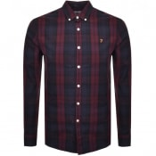 Product Image for Farah Vintage Brewer Tartan Shirt Burgundy