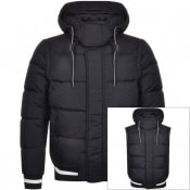 Product Image for Emporio Armani Full Zip Padded Jacket Navy