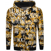 Product Image for Versace Jeans Couture Full Zip Logo Hoodie Black