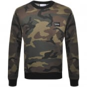 Product Image for Calvin Klein Camo Logo Sweatshirt Green