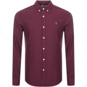 Product Image for Farah Vintage Brewer Slim Fit Shirt Burgundy