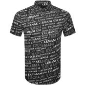 Product Image for Armani Exchange Short Sleeved Shirt Black