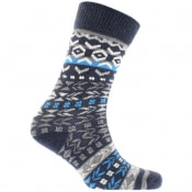Product Image for Birkenstock Cotton Jacquard Socks Navy