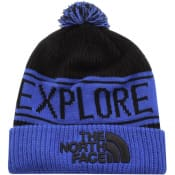 Product Image for The North Face Retro Pom Beanie Hat Blue