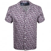 Product Image for Pretty Green Short Sleeve Barley Shirt Purple