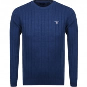 Product Image for Gant Rib Knit Jumper Blue