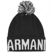 Product Image for Armani Exchange Logo Beanie Hat Navy
