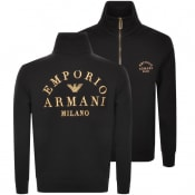 Product Image for Emporio Armani Full Zip Sweatshirt Black