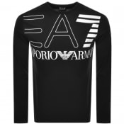 Product Image for EA7 Emporio Armani Long Sleeved Logo T Shirt Black