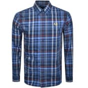 Product Image for Fred Perry Long Sleeved Check Shirt Blue