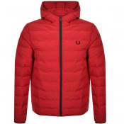Product Image for Fred Perry Padded Hood Jacket Red