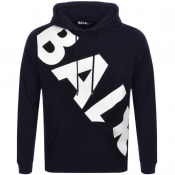 Product Image for BALR Tilted Logo Hoodie Navy