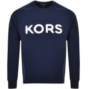 Product Image for Michael Kors Crew Neck Terry Logo Sweatshirt Navy